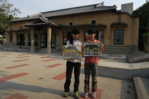 【寫生】台南「新化武德殿」:周邊日式建築也一同修復(11.7ys)