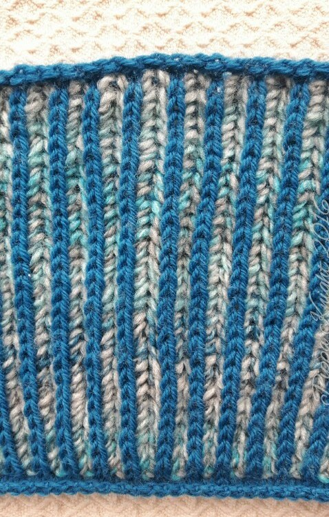 Blue Brioche Cowl Beads And Barnacles