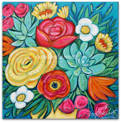 Freshly Painted Blossoms - Blooming, Art by Regina Lord