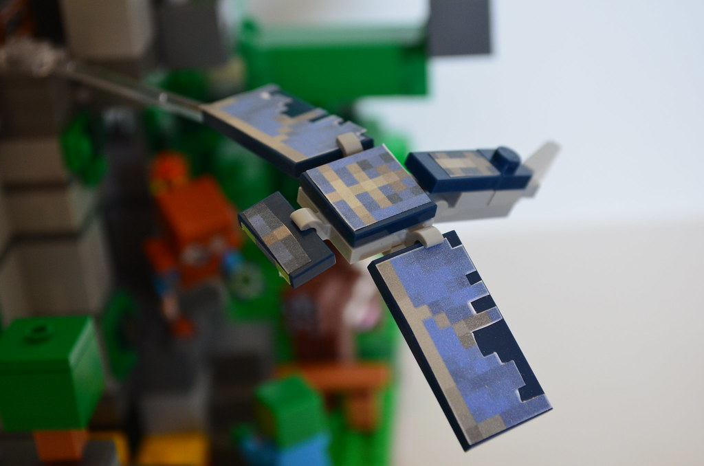 Lego Minecraft MOC Elytra Tower The Phantom Mob With Its Flickr
