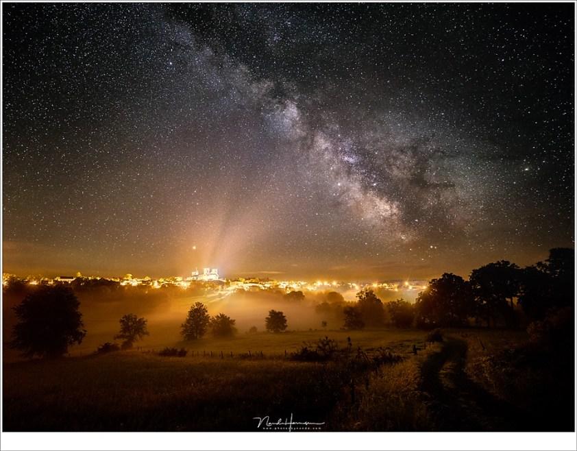 LA Chaise Dieu, met de Melkweg in al haar pracht