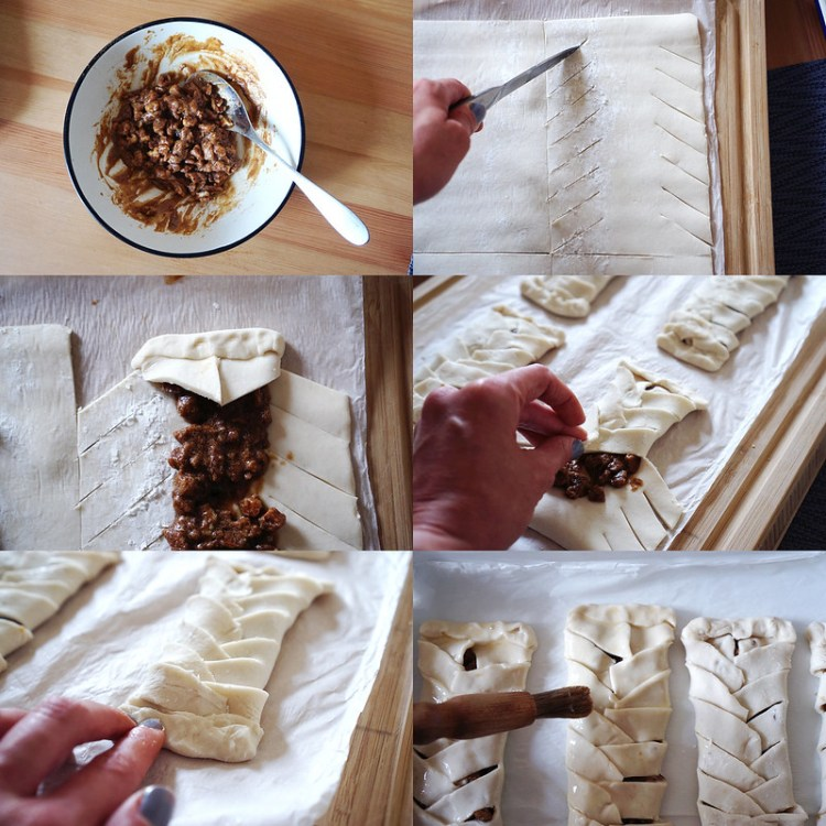 Easy gluten free maple pecan plaits made with Jus-Rol gluten free puff pastry - preparation and cooking process | gluten free pastries | gluten free recipes | gluten free desserts | gluten free baking
