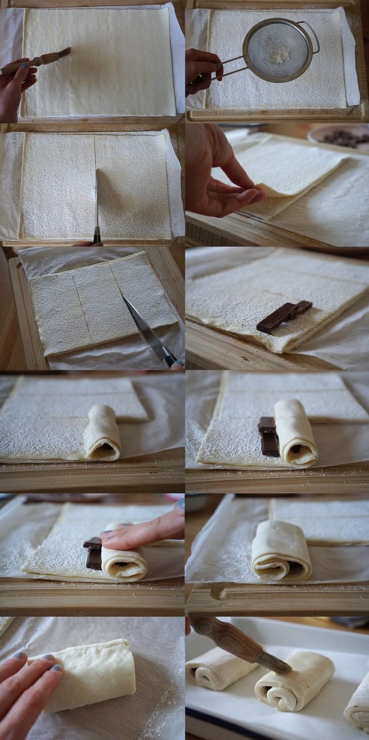 Easy gluten free pain au chocolat making process | gluten free chocolatines | gluten free pastries | gluten free baking | gluten free recipes | By Kimi Eats Gluten Free