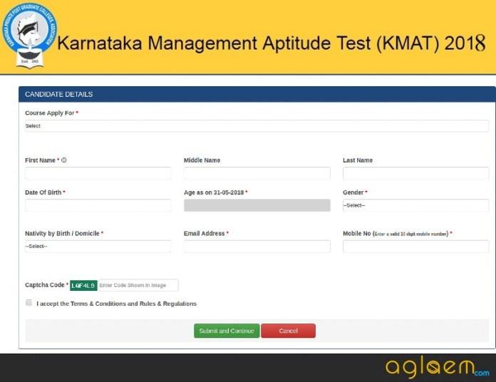 Karnataka KMAT 2018 registration