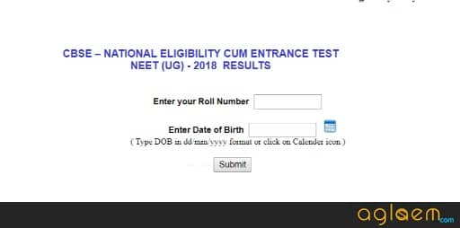 How To Check NEET 2018 Result at cbseresults.nic.in?