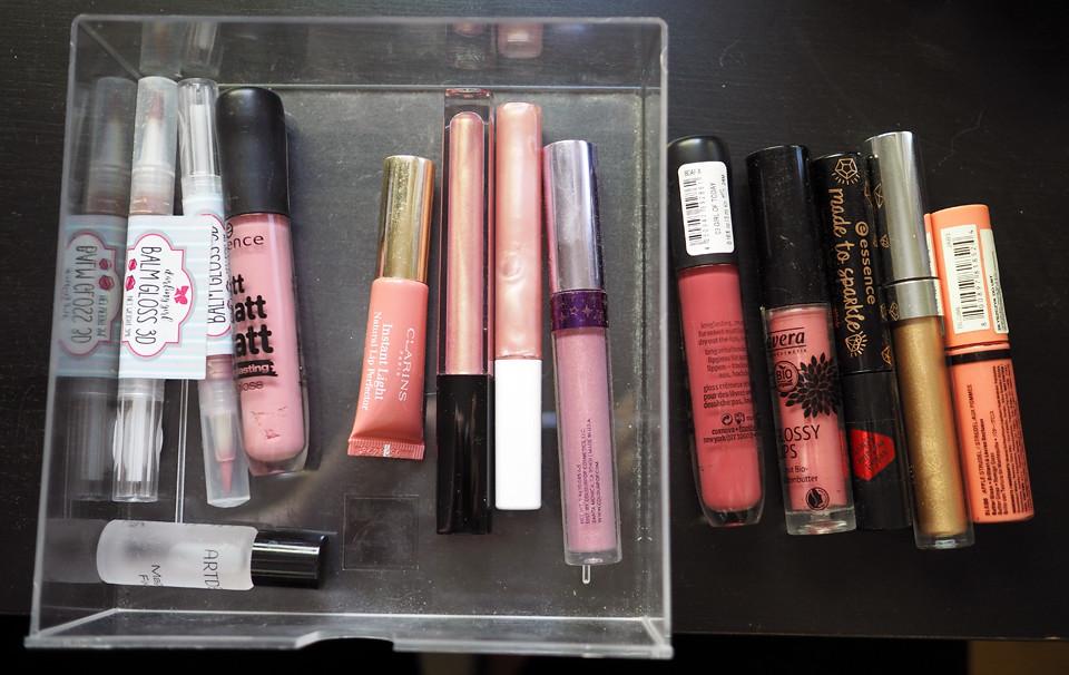liplgoss declutter makeup meikki kevätsiivous