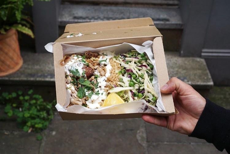 Gluten free Aioli chicken lunch box from Leon | Gluten free Shoreditch guide | Gluten free London | Brick Lane | Old Street | Spitalfields | Hoxton | East London