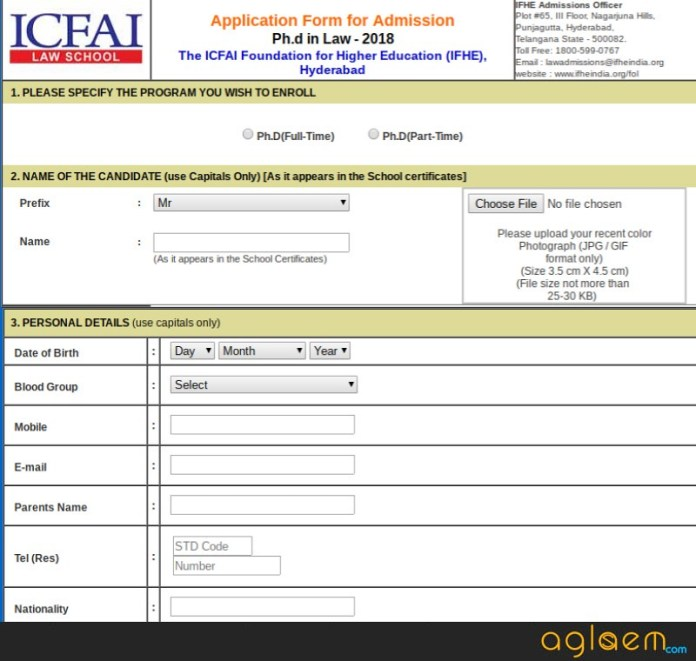 ILSAT 2019 Application Form  %Post Title | AglaSem