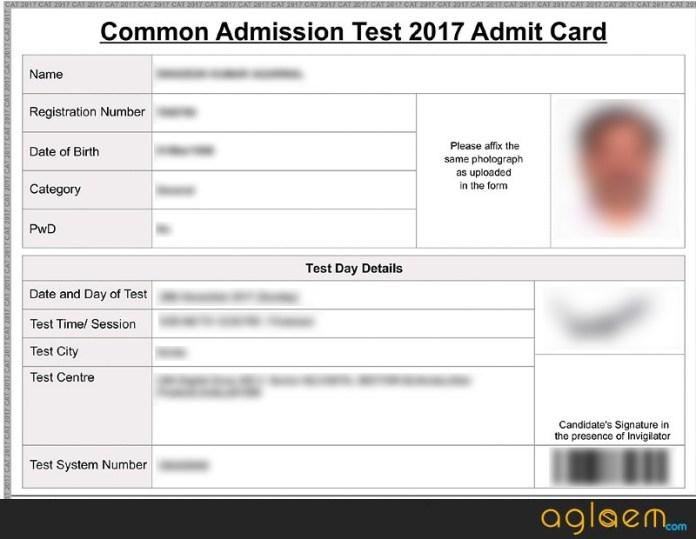 CAT 2018 Admit Card