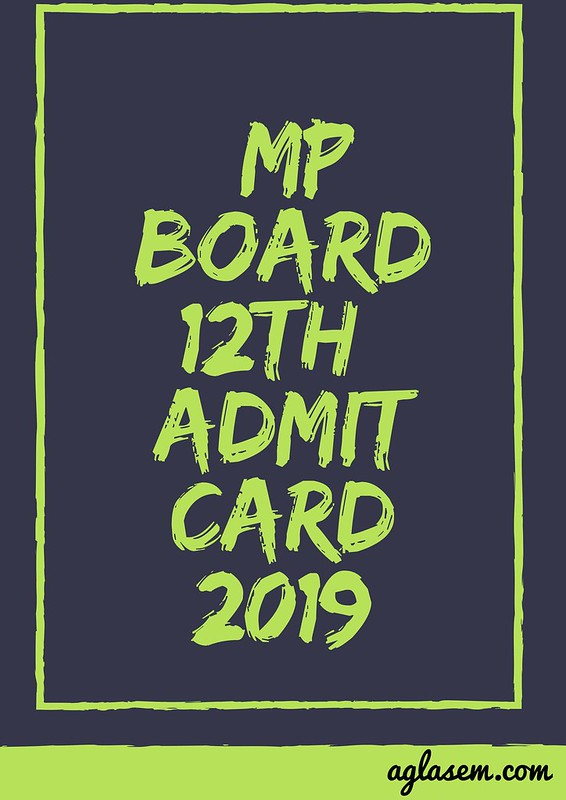 MP Board 12th Admit Card 2019