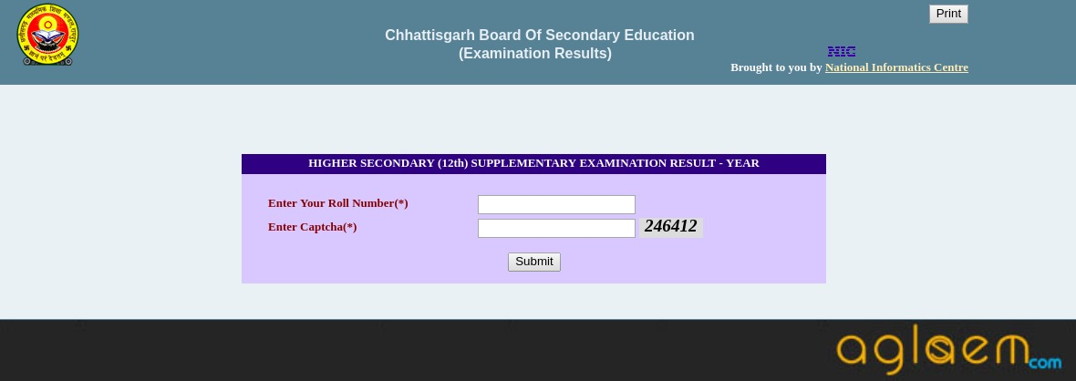CGBSE 12th Supply Result 2018