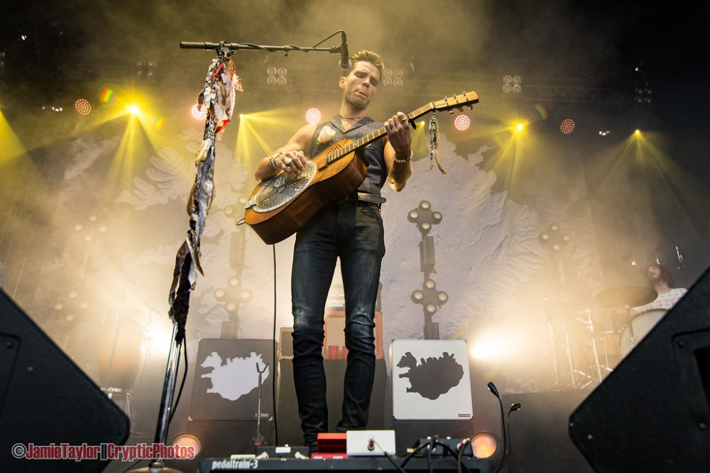 JJ Julius Son of Kaleo performing at the PNE Amphitheatre in Vancouver, BC on June 23rd 2018