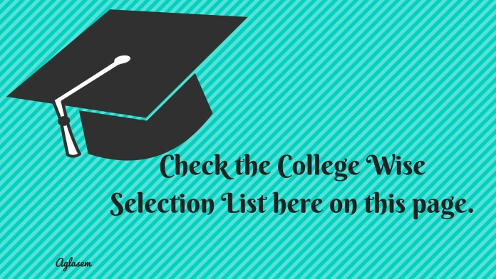 DMER Selection List 2018 College Wise