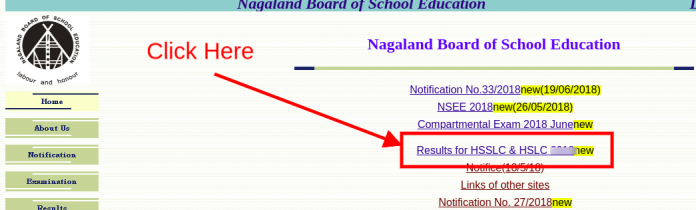 NBSE HSLC Compartmental Result 2018