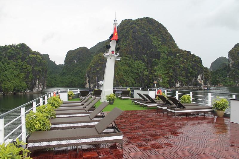 Terraza abierta del Era Cruises: Viaje a Vietnam