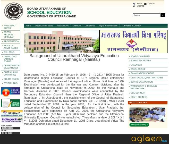 Uttarakhand Board 10th Time Table 2019