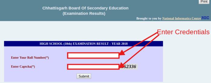 Chattisgarh Board Supplementary Result