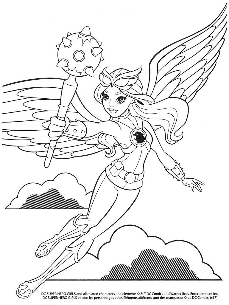 dc superhero girls colouring pages  selections from the