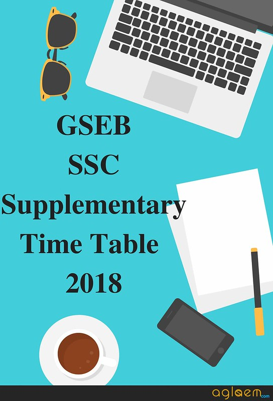 GSEB SSC Supplementary Time Table 2018