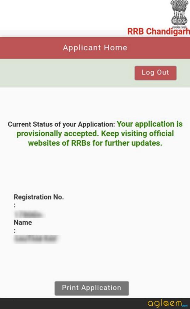 RRB Group D Application Form Status