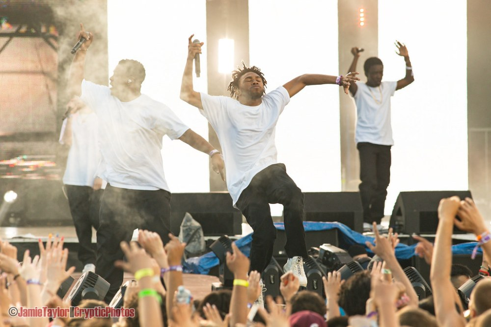 Brockhampton performing at Fvded in the Park at Holland Park in Surrey, BC on July 7th, 2018