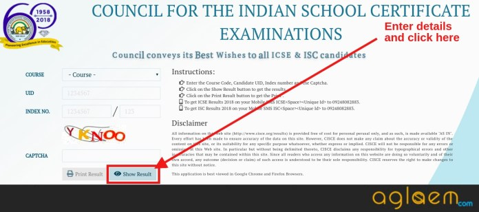 ISC Class 12 Result 2019