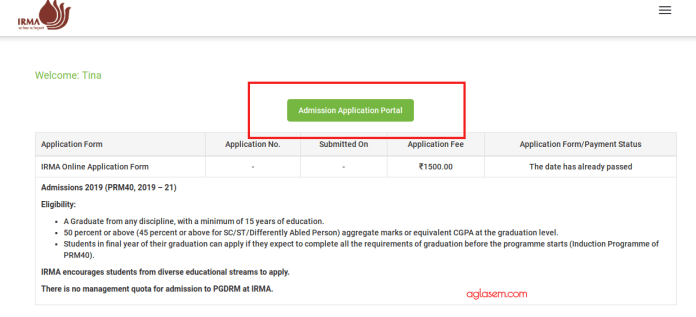 IRMA 2019 Application Form