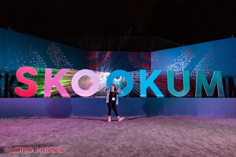 Art installation at Skookum Music Festival in Vancouver, BC on September 7th, 2018