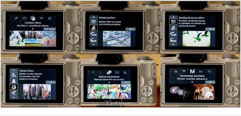 Een greep uit de creatieve functies van de EOS M50. Dat de camera deze functies heeft, gericht op de beginnende fotograaf, wil niet zeggen dat er geen professionele en kwalitatieve foto's mee gemaakt kunnen worden.