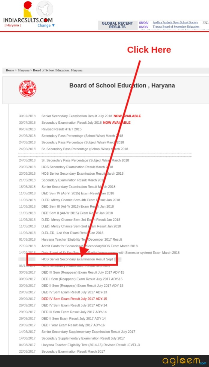 HOS 12th Result September 2018