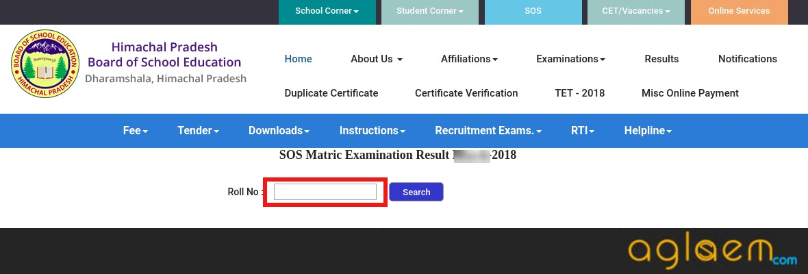 HPSOS 10th Result September 2018