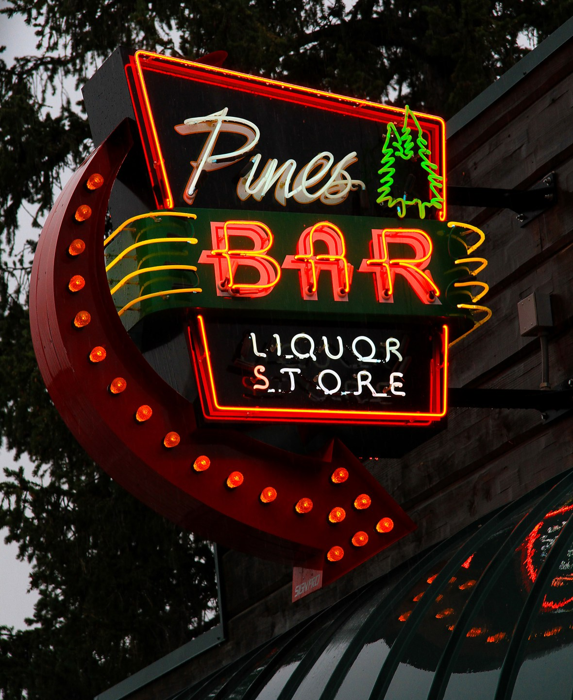 Pines Bar - 260 North Main Street, Thayne, Wyoming U.S.A. - August 22, 2018