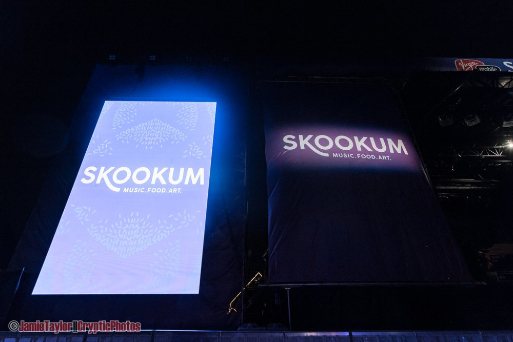 Main stage festival signs at Skookum Music Festival in Vancouver, BC on September 7th, 2018