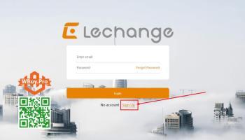 Bấm vào nút Sign Up để đăng ký tài khoản Camera Lechange