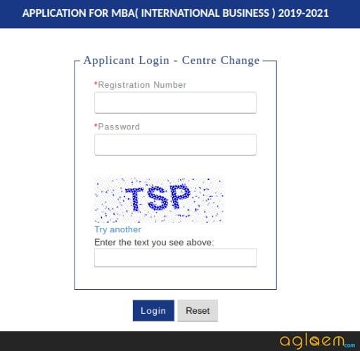 IIFT 2019 Centre Change Login