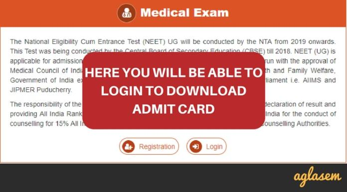 NEET 2019 Admit Card (Released!)   Download Here Hall Ticket