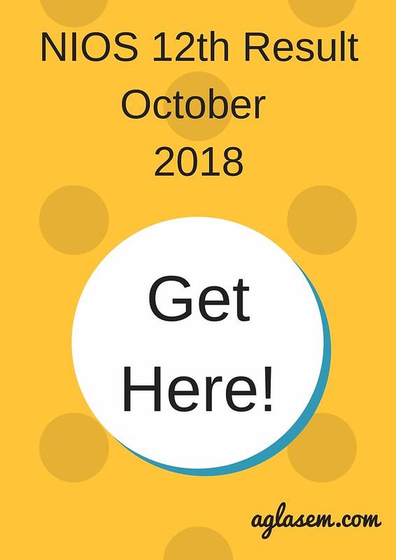 NIOS 12th Result October 2018