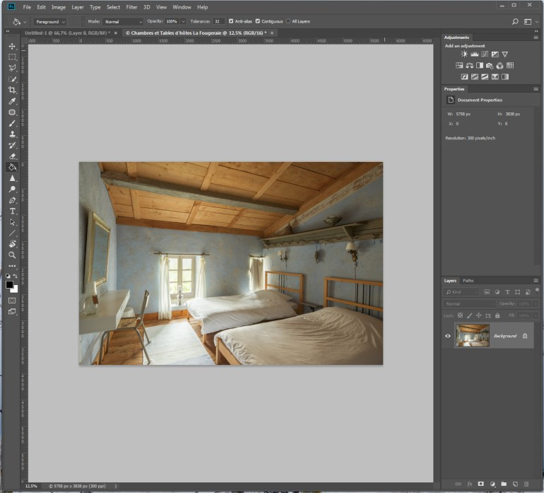 HDR in Photoshop via Lightroom