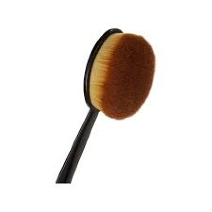 how to apply a foundation with brush