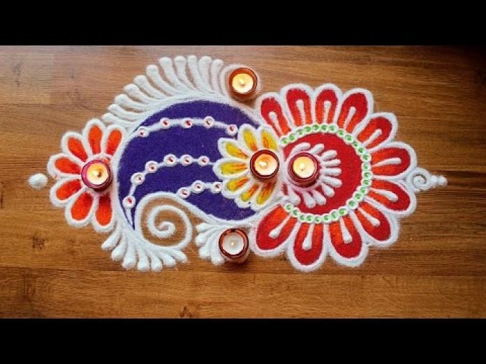 ganpati rangoli designs simple