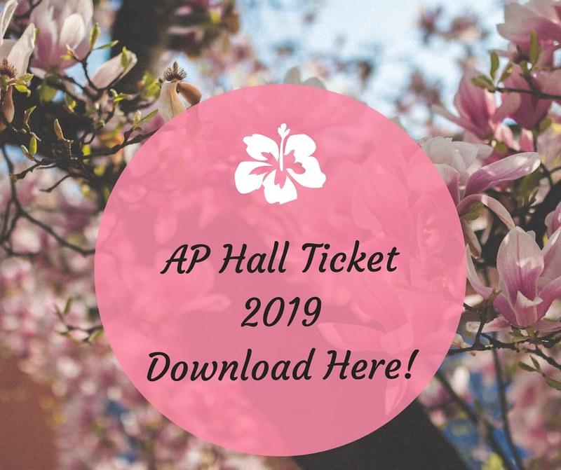 AP Hall Ticket 2019