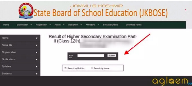 JKBOSE 12th Annual Result 2018 for Jammu Division Winter Zone