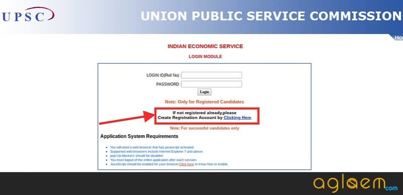 Login window of UPSC DAF