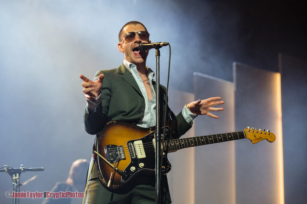 Singer Alex Turner of Arctic Monkeys performing at Pacific Coliseum in Vancouver, BC on October 25th, 2018
