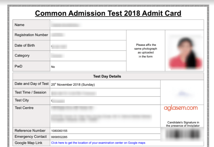CAT 2018 Admit Card