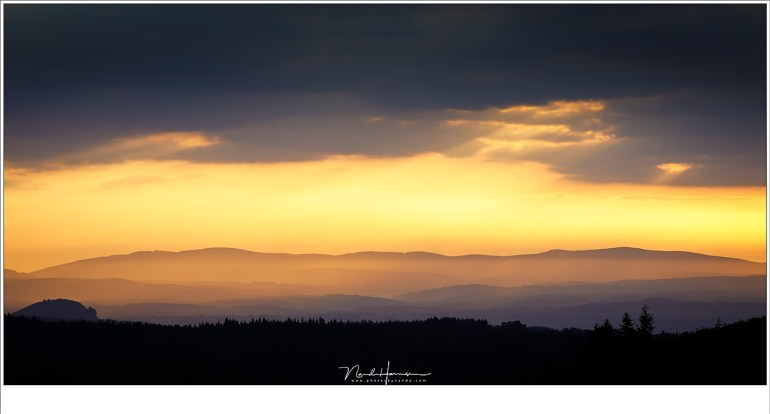 Fantastische kleuren in dit vergezicht tijdens een van de weinige bewolkte ochtenden.