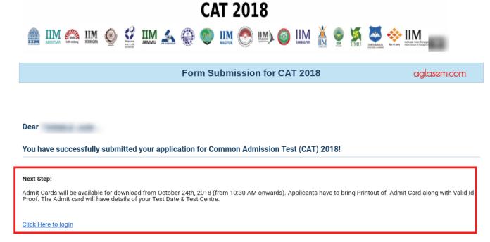 CAT 2018 Admit Card Download