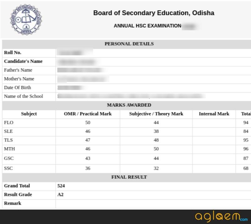 Odisha HSC Result