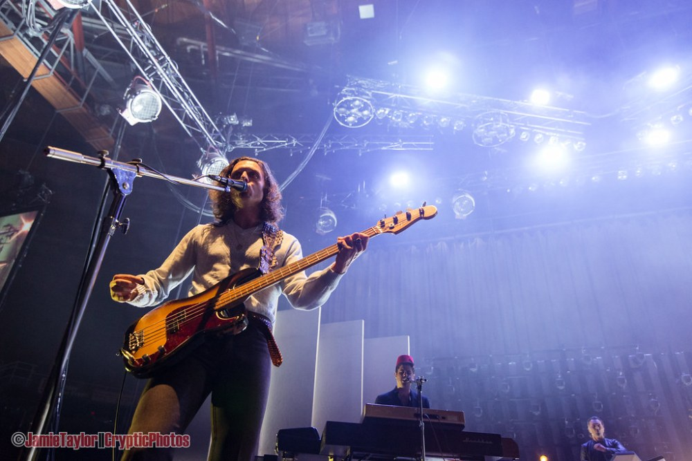 Bassist Nick O'Malley of Arctic Monkeys performing at Pacific Coliseum in Vancouver, BC on October 25th, 2018