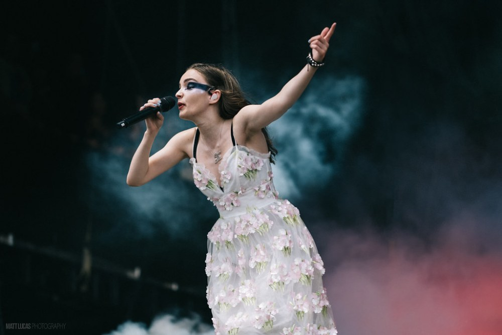 Lauren Eve Mayberry of Chvrches performing at Austin City Limits Music Festival 2018 at Zilker Metropolitan Park in Austin, Texas on October 5th-7th, 2018